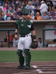 Reds prospect Chris Okey during a recent game for the