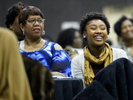 Nakyla Griffin, a member of the Dare to Dream Mentoring