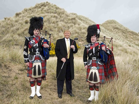 A file photo taken on May 27, 2010, shows Donald Trump