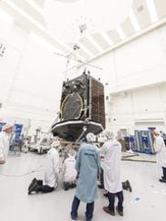 The SES-9 commercial communications satellite is targeting