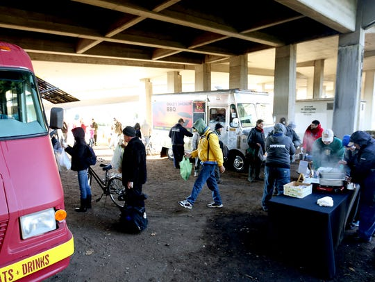 The Feed the Need event under the Marion Street Bridge