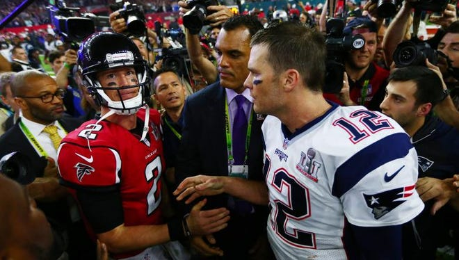"""Comedy writer Alex Kaseberg, on why no Falcons have an airtight alibi in the disappearance of Tom Brady's Super Bowl jersey: """"They didn't have Brady's number all day."""""""