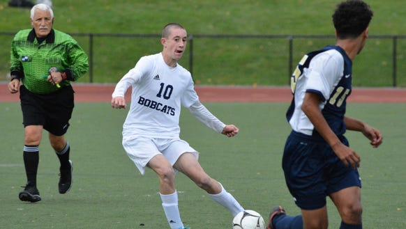 Byram Hills midfielder Ryan Noel (10) changes direction