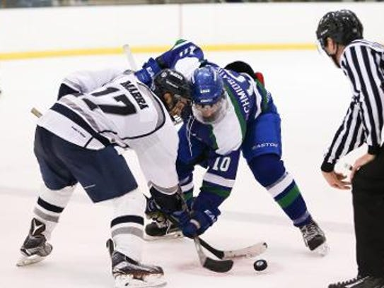 Anthony Marra, Guelph, Ontario, leads the Geneseo in