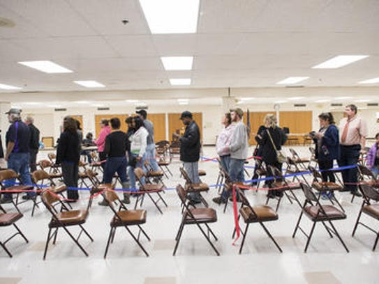 Lines at the polls were long in the 2016 Presidential