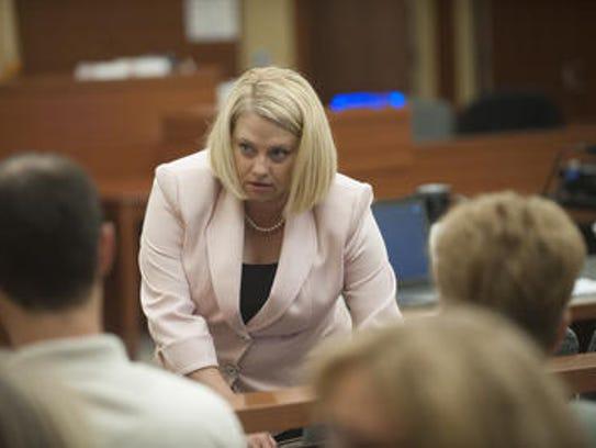 Assistant Prosecutor Dana Anton delivers her opening