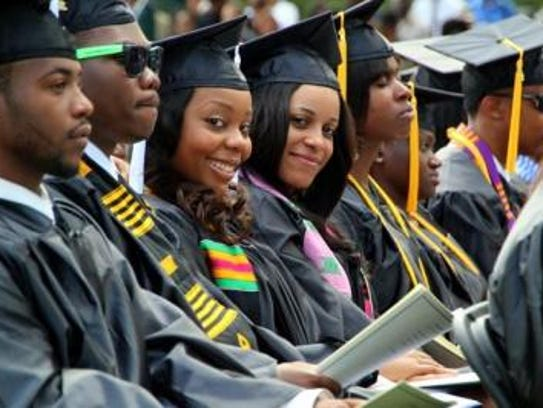 Students graduated from St. Augustine's College in