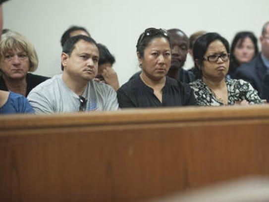 Friends of Jennifer Bongco attend a 2014 court hearing