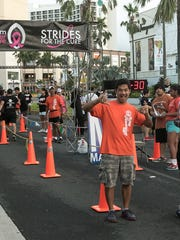 Runners approach the finish line during the 14th Annual Strides for the Cure 2K/5K run/walk held at Outrigger Guam Resort, Tumon, on Oct. 03.