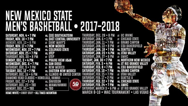 New Mexico State released its 2017-18 men's basketball schedule on Wednesday.