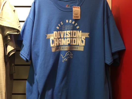 new product f5236 bebb3 Oops! Detroit Lions NFC North champs shirts sold at ...