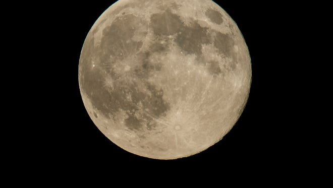A supermoon as seen August 10, 2014 in Washington, D.C.