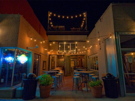 Reed's Hollow has a patio at the front and a rooftop