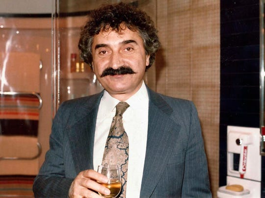 This late 1980s-early 1990s photo provided by the family shows Mario J. Paone in New York. A quarter of a century has passed since Trump refused to pay $1.2 million for the paving stones Paone installed at Atlantic City's Taj Mahal casino.