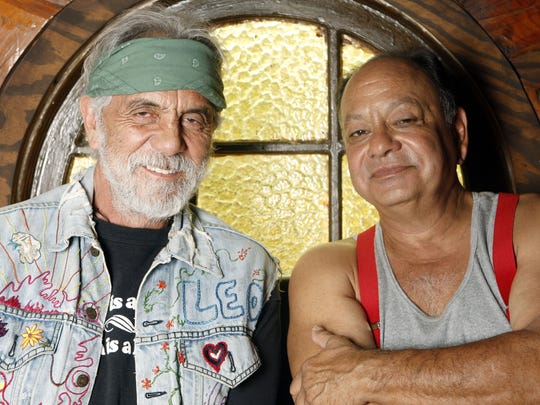 """Cheech (right) and Chong reunited for a tour in 2008. """"We have a business together,"""" Cheech Marin says. """"We don't have to like each other."""""""