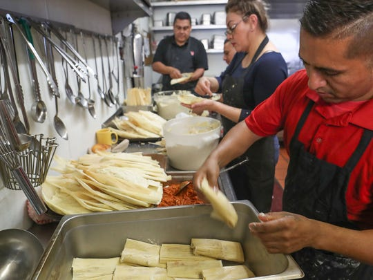 Tamales are prepared at Rincón Norteño for the upcoming Indio International Tamale Festival in Indio.