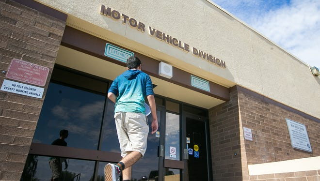 An Arizona Motor Vehicle Division office in Mesa on Thursday, July 23, 2015.