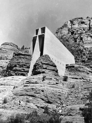Chapel of the Holy Cross in Sedona, seen here in 1957.