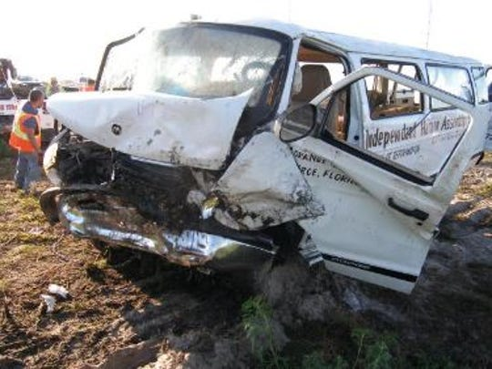 A report said that a van that crashed a stop sign in Moore Haven in March 2015 may have done so because the driver had taken an antihistamine.