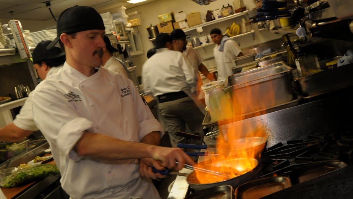 Chef Beau in Kitchen