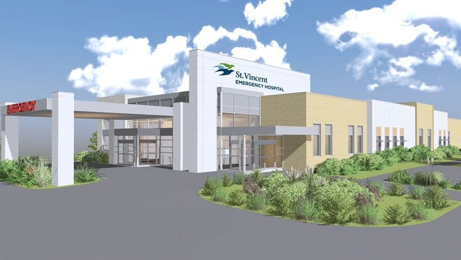An artist rendering of one of the four St. Vincent emergency hospitals,