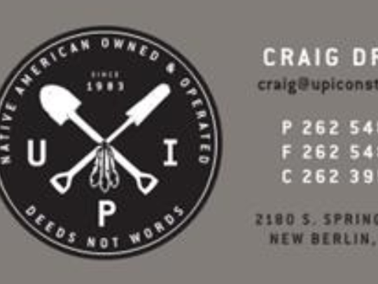 Feathers are proudly featured in the logo of UPI, a Native American owned company that the First American Capital Corp., now located in Hales Corners, helped get started.