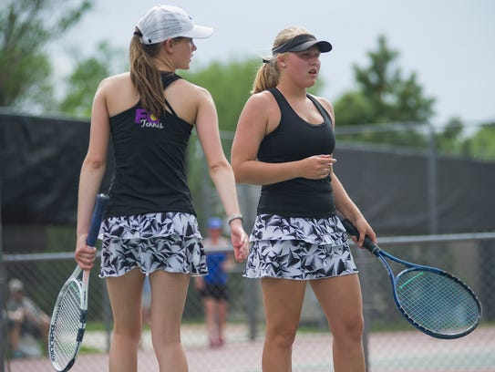 Fort Collins High School No. 3 doubles players Aurora