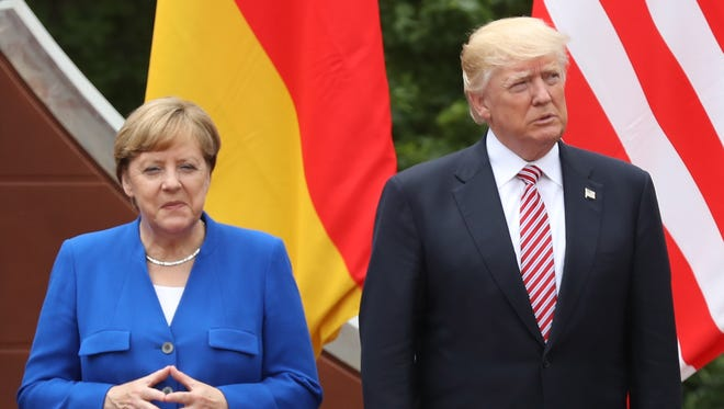 German Chancellor Angela Merkel and President Trump in Italy on May 26, 2017.