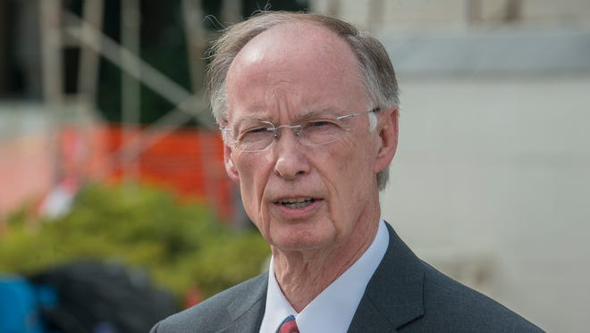 """""""This special session was a failure, and I'm disappointed,"""" said Gov. Robert Bentley, speaking outside the Alabama State Capitol in Montgomery on Tuesday, Aug. 11, 2015."""