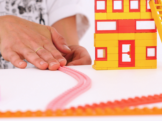 Nimuno Loops has created a viral sensation in tape that can hold building blocks like LEGO.