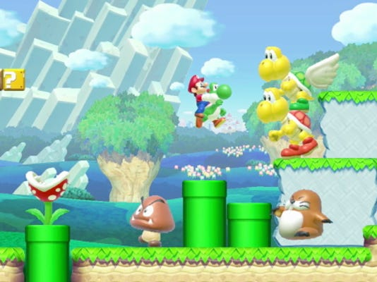"""This photo provided by Nintendo shows a scene from the video game, """"Super Mario Maker."""""""
