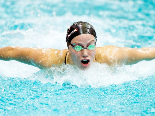 Spring Grove graduate Hali Flickinger recently won three medals at the World University Games in South Korea.