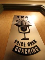 Voice over coach Peter Rofe's studio in Irvington.