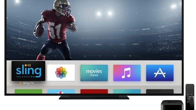 Streaming service Sling TV is now available on Apple TV's fourth-generation set-top box.