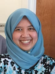 Azleena Azhar, a trained Muslim chaplain at the Islamic Association of Raleigh.