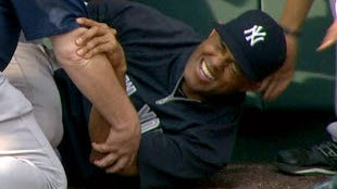 New York Yankees' Mariano Rivera's career is in jeopardy after tearing his ACL on May 3.