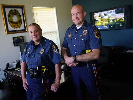 Middletown Police Chief Daniel Yeager in his office