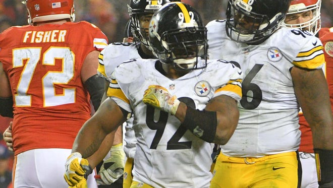 Steelers OLB James Harrison (92) is pursuing a third Super Bowl ring.