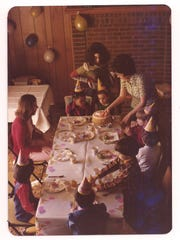 The Brody family celebrates a birthday in 1975 in the