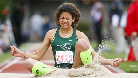 West Salem's Taylor McCarrell competes in the triple