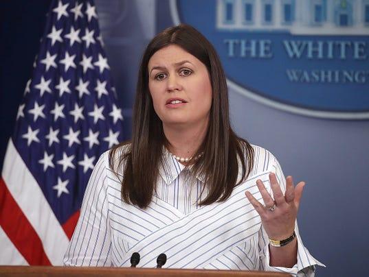 Deputy White House Press Secretary Sarah Huckabee Sanders Holds Press Briefing
