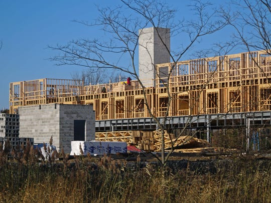 120-unit development is under construction along the riverfront off Route 9 in Old  New Castle.