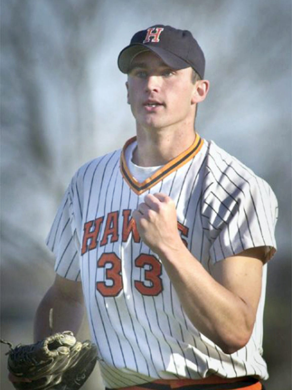 Mark Phillips celebrates a Hanover High School win
