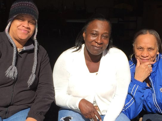 Northwood custodians Liz Collins, Iris Bryant and Sheila