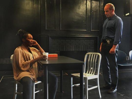 Suzzanne Douglas and John Bolger rehearse a scene for