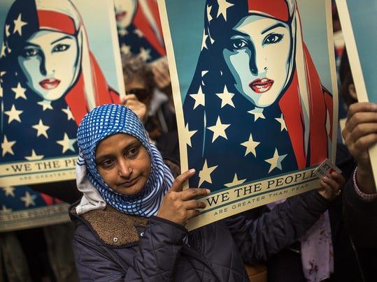 AP TRUMP TRAVEL BAN PROTEST A USA NY