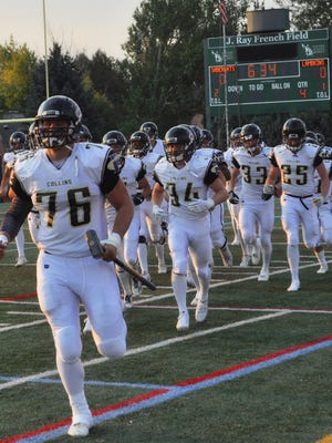 Fort Collins High School's Jack Peterson (76) has verbally committed to play football at the Colorado School of Mines.