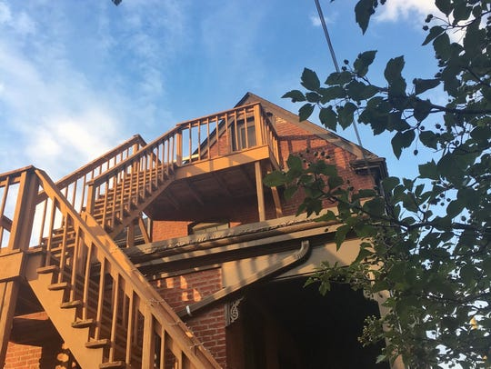 The Vertigo stairs at Dana McMahan's Airbnb in Old