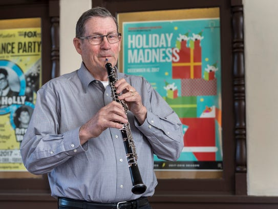 Larry Belau, plays the oboe with the Sequoia Symphony