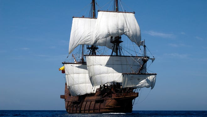 El Galeon, a reconstructed 16th century Spanish sailing vessel used in early Colonial times, will be in Green Bay Friday through Sunday for the Tall Ship Festival.